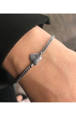 Zilveren armband hart met vingerafdruk BAX-17006