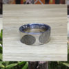 Ring met dubbele vingerafdruk BAX-17003 close up