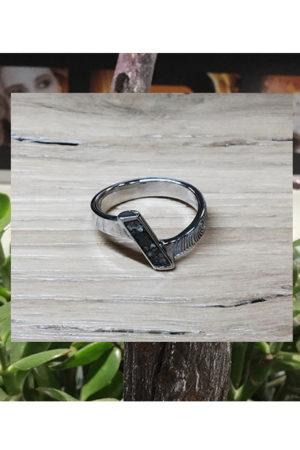 Ring met vingerafdruk en asvulling BAX-17027 close up