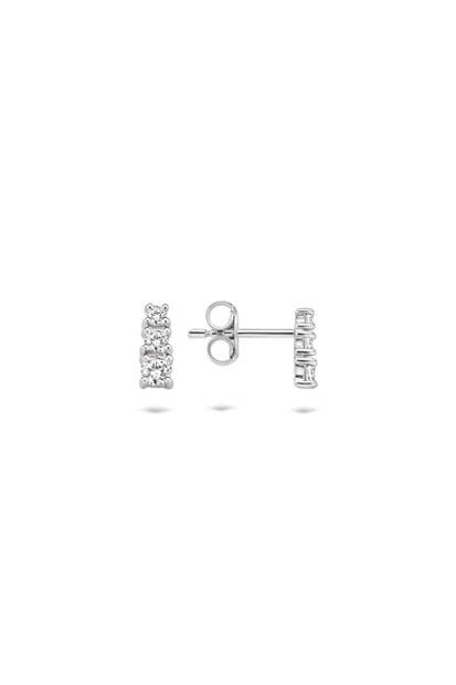 Blush oorknoppen met zirkonia - 7172WZI