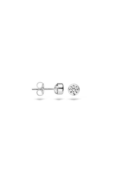 Blush oorknoppen met zirkonia - 7135WZI