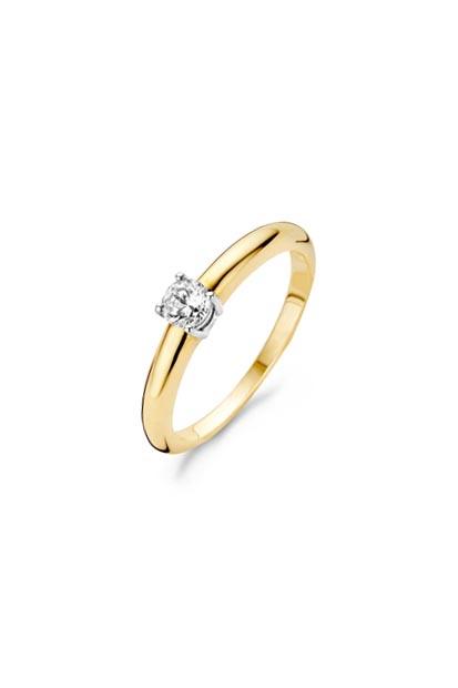 Blush ring met zirkonia - 1067BZI