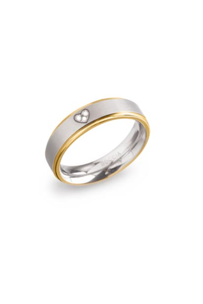Boccia Titanium ring met diamant - 0134-06