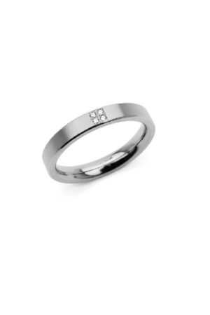 Boccia Titanium ring met 4 diamanten (0.02ct) 0120-01
