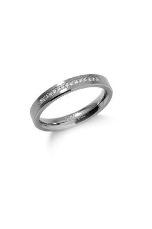 Boccia Titanium ring met 15 diamanten (0.075ct) 0120-04