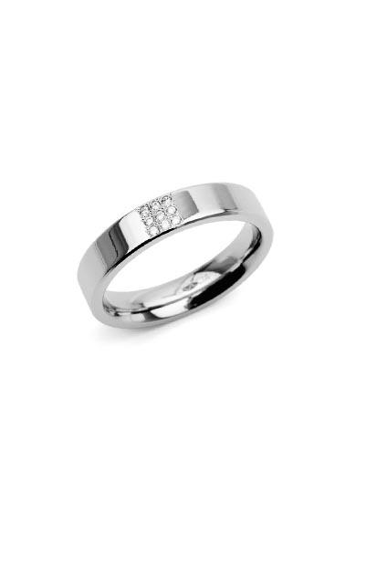 Boccia Titanium ring met 9 diamanten (0.045ct) 0121-02