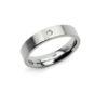 Boccia Titanium ring met 1 diamant (0.03ct) 0121-04