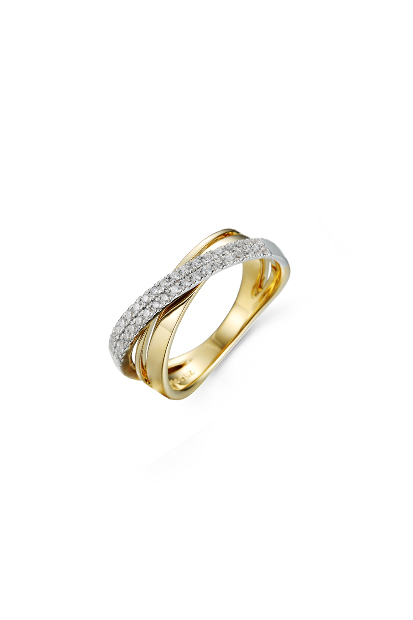 14 krt Briljant ring bicolor bezet met 0.27 ct diamant - 607070005