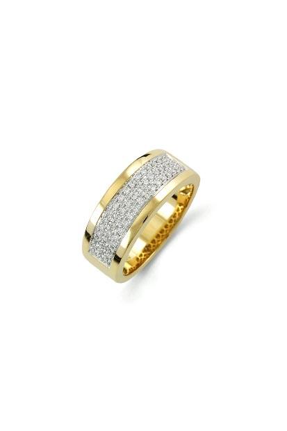 14 krt Briljant ring geelgoud bezet met 0.30 ct diamant - 607070012