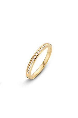 14 krt Briljant aanschuifring geelgoud bezet met 0.15 ct diamant - 706100420