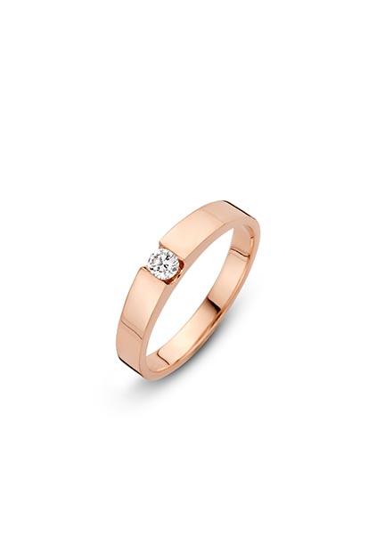 14 krt Briljant ring roségoud bezet met 0.20 ct diamant - 727271020