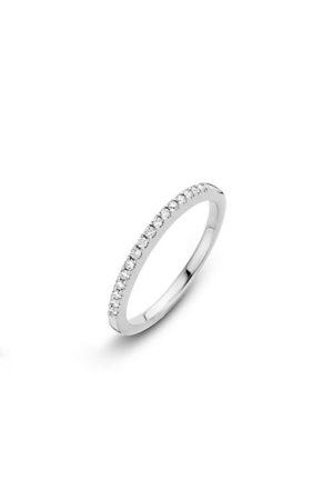 14 krt Briljant aanschuifring witgoud bezet met 0.15 ct diamant - 756100410