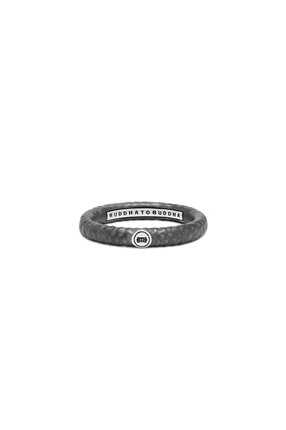 Buddha to Buddha Dunia Hammered Black ring - 321