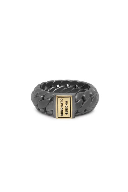Buddha to Buddha Ben Small ring Black Rhodium Gold - 542BRG