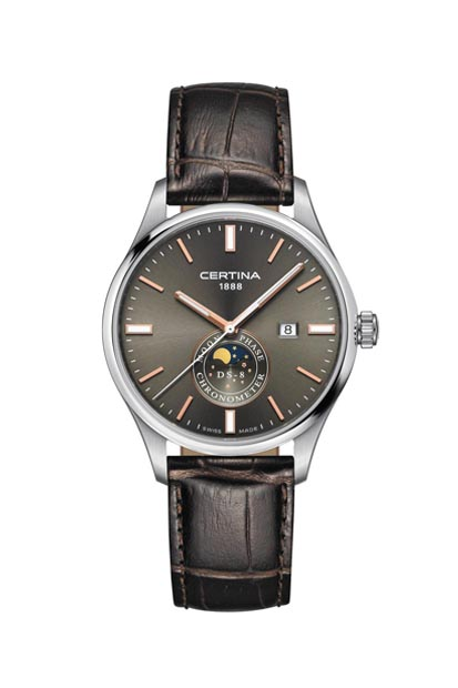 Certina DS-8 Moonphase heren horloge - C033.457.16.031.00