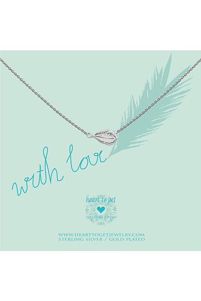 Heart to Get Feather ketting  N43FEA12S
