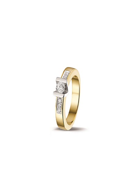 PAS Diamonds gouden ring bezet met 0.15 ct briljant - GD1632