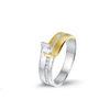 PAS Diamonds bicolor ring bezet met 0.33 ct briljant - GP0750