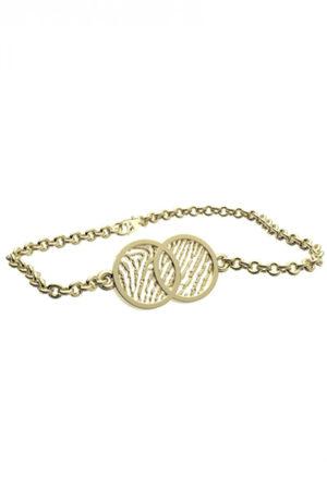 Royolz armband met vingerafdruk FPA 202 - goud