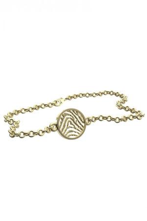 Royolz armband met vingerafdruk FPA 204 - goud