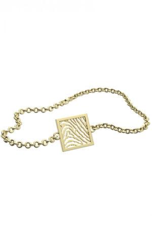 Royolz armband met vingerafdruk FPA 206 - goud