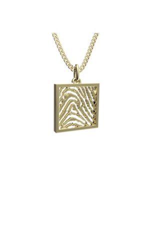 Royolz hanger met vingerafdruk FPH 003 - goud