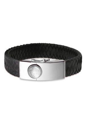 See You armband met vingerafdruk BG 007F zwart