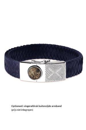 See You armband met asvulling BG 007 blauw