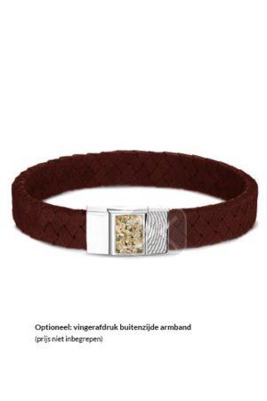 See You armband met asvulling BG 008 cognac