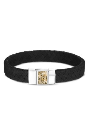 See You armband met asvulling BG 008 zwart