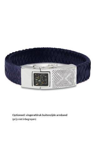 See You armband met asvulling BG 011 blauw