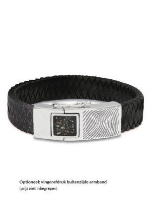 See You armband met asvulling BG 011 zwart