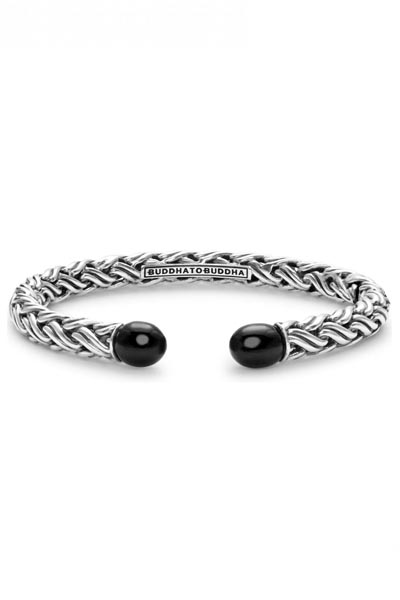 Buddha to Buddha  Katja Torque Onyx armband - 079