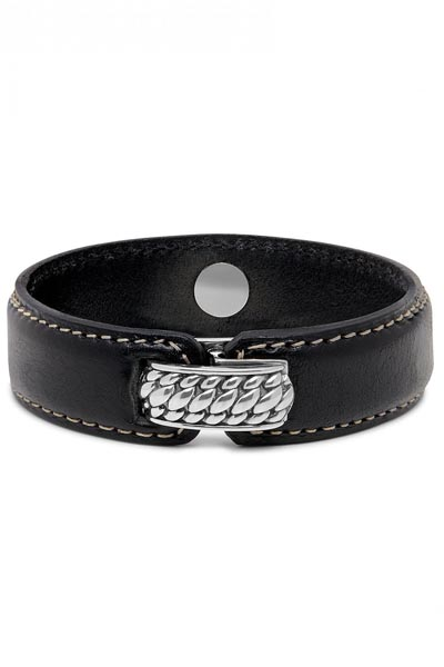 Buddha to Buddha Anggun Leather Black Armband 130BL