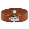 Buddha to Buddha Anggun Leather Brown armband 130BR