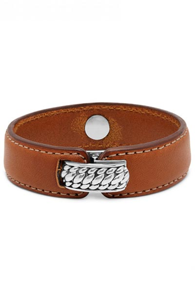 Buddha to Buddha Anggun Leather Brown armband 130BR