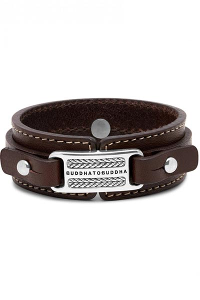 Buddha to Buddha Jantan Leather Brown armband 140BR
