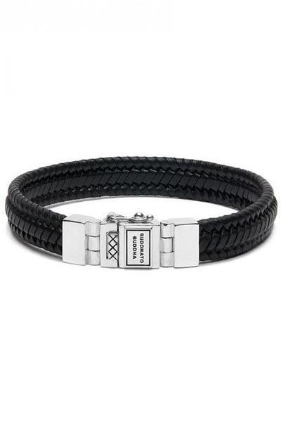 Buddha to Buddha armband Edwin Small Leather Black 181BL