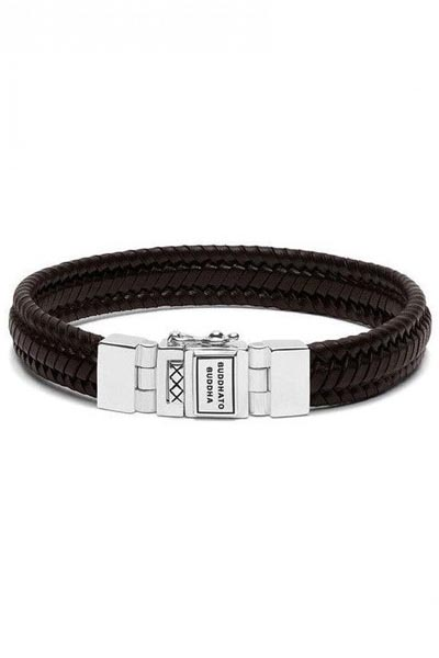 Buddha to Buddha armband Edwin Small Leather Brown 181BR