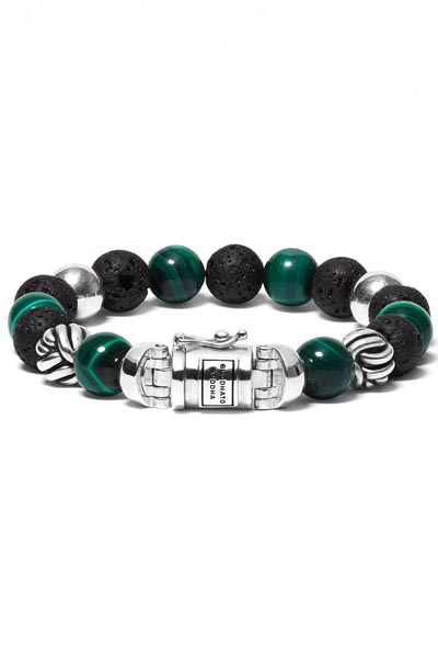 Buddha to Buddha Spirit Bead Mix Malachite armband 188MM