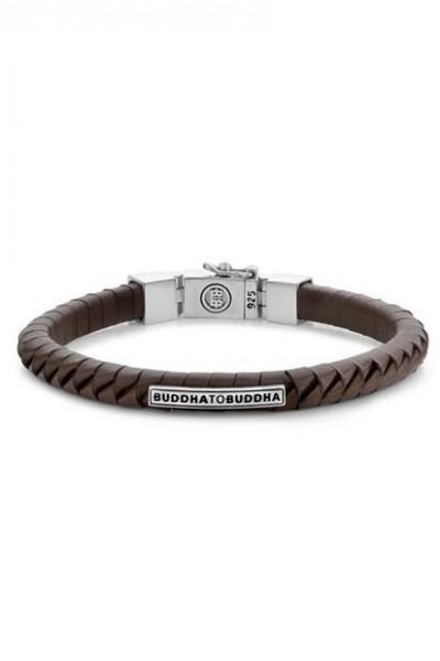 Buddha to Buddha Komang Leather armband Brown 162BR