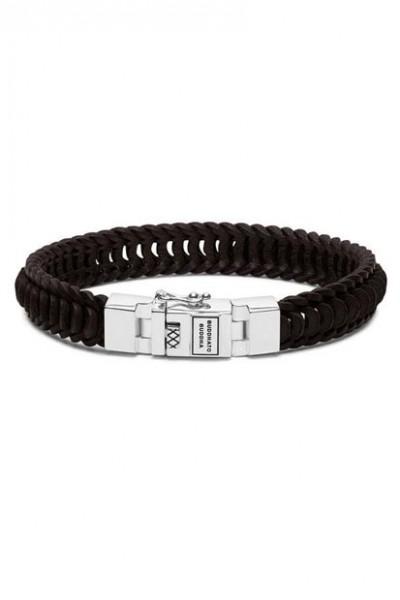 Buddha to Buddha armband Lars Leather Black - 187BL